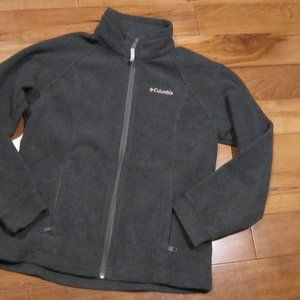 girls columbia jacket charcoal grey size 10/12